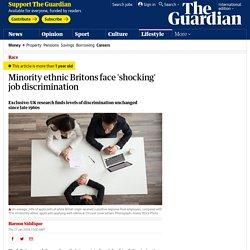 Minority ethnic Britons face 'shocking' job discrimination