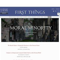 Moral Minority by Patrick J. Deneen
