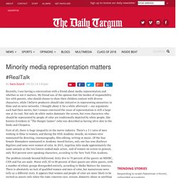 Minority media representation matters