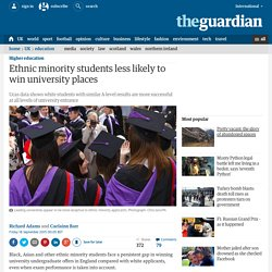 Ethnic minority students less likely to win university places
