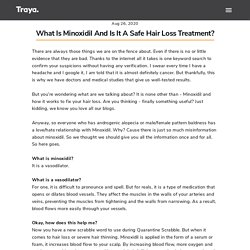 What is Minoxidil and is it a safe Hair Loss Treatment_ – Traya health – TrayaHealth