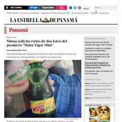 "Minsa solicita retiro de dos lotes del producto ""Malta Vigor Mini"""