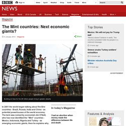 The Mint countries: Next economic giants?