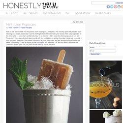 Mint Julep Popsicles Recipe