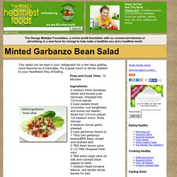 Minted Garbanzo Bean Salad