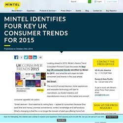 Mintel identifies four key UK consumer trends for 2015