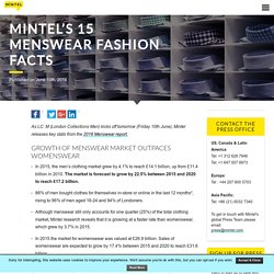 Mintel's 15 Menswear Fashion Facts