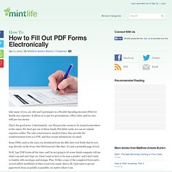 How to Fill Out PDF Forms Electronically