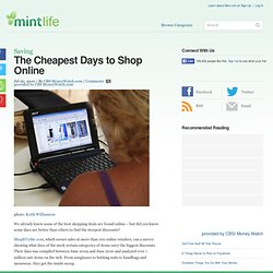 The Cheapest Days to Shop Online