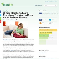 30 Free eBooks To Learn Everything You Want to Know About Personal Finance