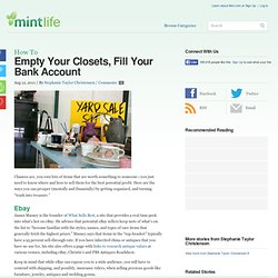 Empty Your Closets, Fill Your Bank Account | MintLife Blog | Personal Finance News & Advice