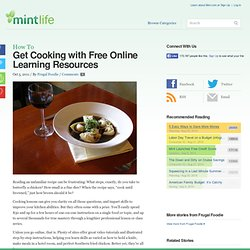 Get Cooking with Free Online Learning Resources