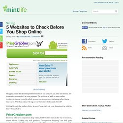 5 Websites to Check Before You Shop Online