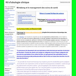 Mintzberg et le management des soins de santé - Kit d'ubulogie clinique