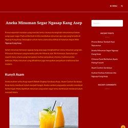 Aneka Minuman Segar Ngasap Kang Asep - Dingin Menyegarkan