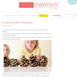 5-Minute Bird Feeders – MADE EVERYDAY