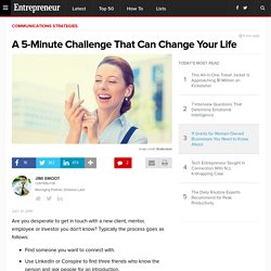 A 5-Minute Challenge That Can Change Your Life