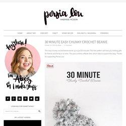 30 Minute Easy Chunky Crochet Beanie - Persia Lou
