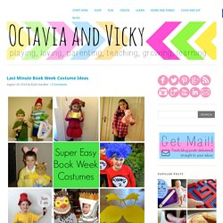 Last Minute Book Week Costume Ideas - Octavia and Vicky