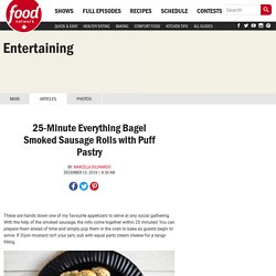 25-Minute Everything Bagel Smoked Sausage Rolls with Puff Pastry