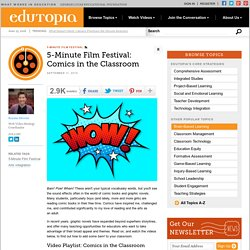 Five-Minute Film Festival: Comics in the Classroom