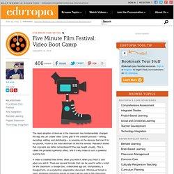 Five Minute Film Festival: Video Boot Camp