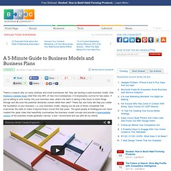 A 5-Minute Guide to Business Models and Business Plans