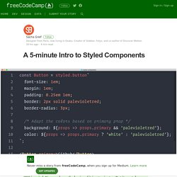 A 5-minute Intro to Styled Components – freeCodeCamp