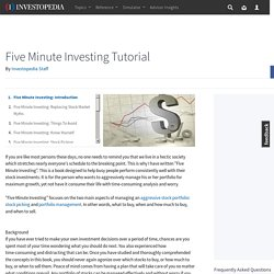 Five Minute Investing: Introduction
