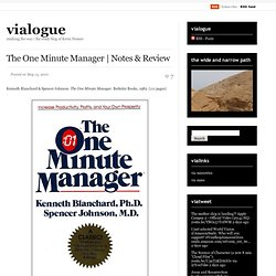 leadership paper one minute manager Some authors 3–6 the series of one minute manager  other analyses of leadership style in a classic paper,  leadership chapter 2 n leadership styles and.
