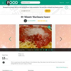 10-Minute Marinara Sauce Recipe
