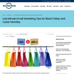 Last Minute Email Marketing Tips for Black Friday and Cyber Monday - Blue Mail Media - Blog