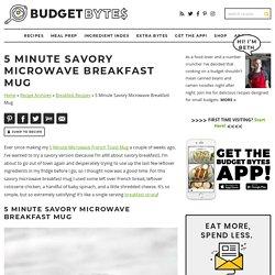 5 Minute Savory Microwave Breakfast Mug