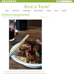 30-Minute Mongolian Beef Recipe