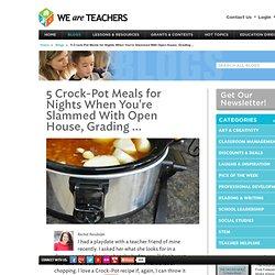 Five Minute Quick Prep Crock Pot Easy Slow Cooker Recipes