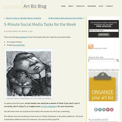 5-Minute Social Media Tasks for the Week