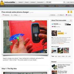 Cinq minutes chargeur de téléphone solaire