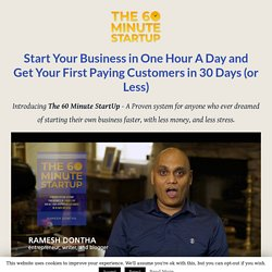 The 60 Minute Startup Launch - RameshDontha.com