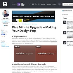 Five Minute Upgrade – Making Your Design Pop