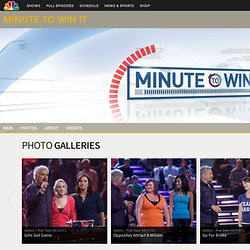 Minute to Win It - Games - How To - NBC Site