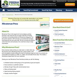 Minuteman Press Franchise Opportunity