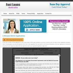 2 Minutes Online Application - Fast Loans Australia