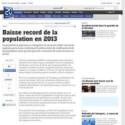 Baisse record de la population en 2013