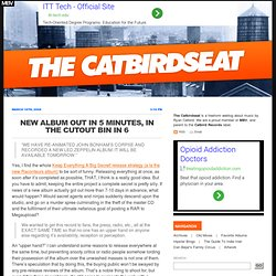 The Catbirdseat - Indie Music, Culture, and Commentary » Blog Ar