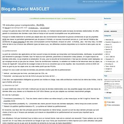10 minutes pour comprendre...NoSQL - Blog de David MASCLET