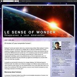 20 minutes (x7) pour comprendre l'univers !