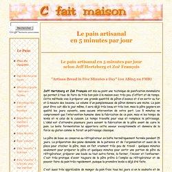 Pain en 5 minutes par jour selon Jeff Hertzberg et Zoe Francois : Artisan Bread in five minutes.