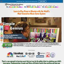 Piano Wizard Academy - the award winning 4-Step Piano Learning System