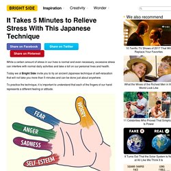 It Takes 5 Minutes to Relieve Stress With This Japanese Technique