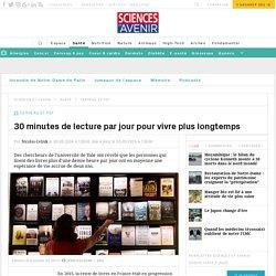 30 minutes de lecture par jour pour vivre plus longtemps